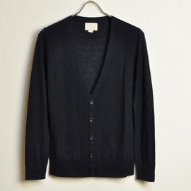 BAND OF OUTSIDERS - WOOL CASHMERE CARDIGAN NAVY
