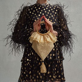 The Vampire's Wife - The Vampire's Wife Tassel-Embellished Woven Clutch