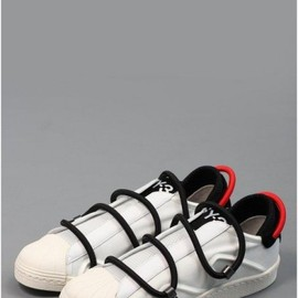 Y-3, adidas - Y3 / Adidas - Yohji Yamamoto Sneak Leather Trainers White