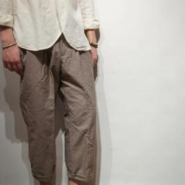 kolor - cropped pants (slub canvas)