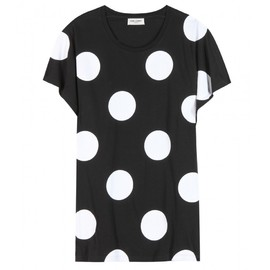 SAINT LAURENT - Cotton polka-dot T-shirt