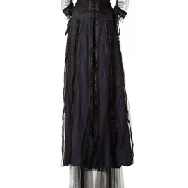 MARC JACOBS - SS2014 Navy Vintage Taffeta Embellished Victorian Gown