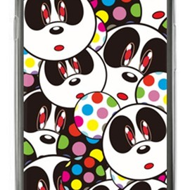 SECOND SKIN - Panda Face (クリア) design by Moisture / for GALAXY S III α SC-03E/docomo