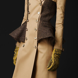 BURBERRY PRORSUM - wool peplum trench