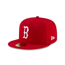 New Era - Boston Red Sox Basic Red 59FIFTY Fitted | Boston Red Sox Hats | New Era Cap