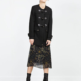 ZARA - DUFFLE COAT WITH ROUND NECK