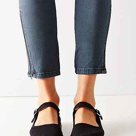 urban outfitters - Cotton Mary Jane Flat