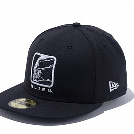 NEW ERA - 59FIFTY ALIEN BOX LOGO ブラック