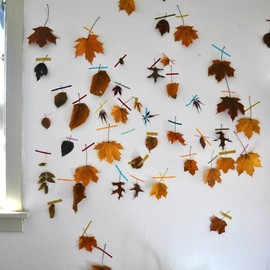 autumn leaf wall