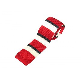 Brooks Brothers - Brooks Brothers BORDER KNIT TIE【RED/WHITE/NAVY】