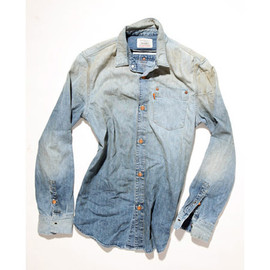 Reconstructed chambray work shirt
