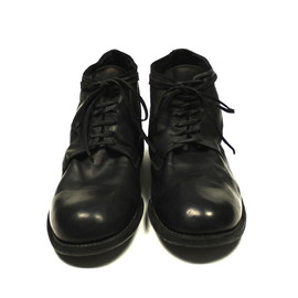 GUIDI - Middle Lace Up Boots - Baby Calf / Black