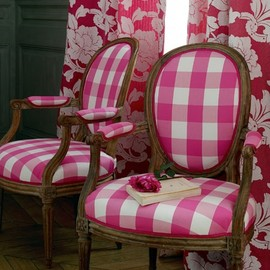 gingham check chair