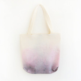 ziazia - purple pink dyed texture tote