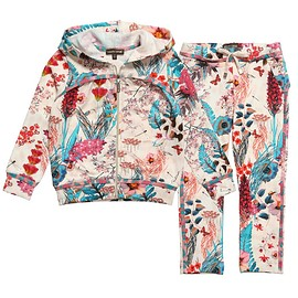 Roberto Cavalli - Pink Floral Cotton Tracksuit