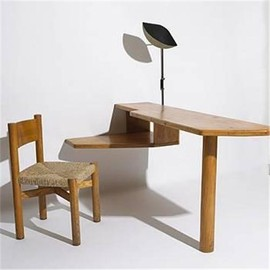 Charlotte Perriand - Table & Chair, Hotel du Doron, France, ca 1947