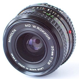 MINOLTA - MD W.ROKKOR 35mm 1:2.8