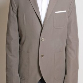 Neil Barrett - Two Button Jacket in Taupe