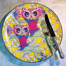 "The Owl Dancers - Limited Edition 10"" Porcelain Dinner Plate"