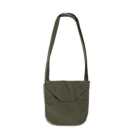 ENGINEERED GARMENTS - Shoulder Pouch-Acrylic Coated Cotton-Olive
