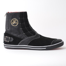 Lewis Leather - Lewis Leather Black Racer Boot Shoes