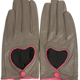 TOPSHOP - Heart Cutout Leather Gloves