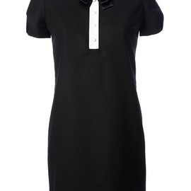 SAINT LAURENT - contrast collar dress