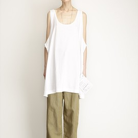 MM6 Maison Martin Margiela - MM6 Maison Martin Margiela Front Panel Tank Dress (White)