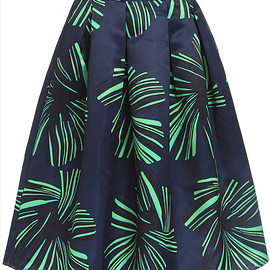 Leaves Print Green Skirt pictures