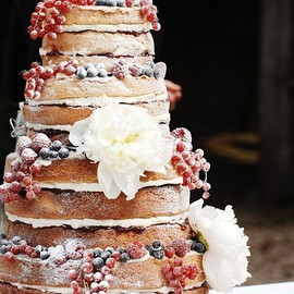 Cascading Berries Naked Wedding Cake