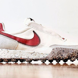 NIKE - Waffle Racer Crater - Summit White/Photon Dust/Black/Team Red