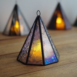"Stainedglacias - ""Mini Akari"" AT22 stained glass lamp - Tent"