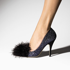 kate spade NEW YORK - kate spade new york Lilo Feather-Accent Glitter Pumps