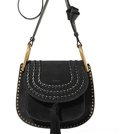 Chloé - Hudson small whipstitched suede shoulder bag