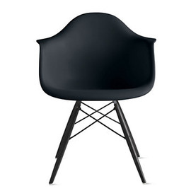 Herman Miller - Eames® Molded Plastic Dowel-Leg Armchair (DAW), Black/Maple