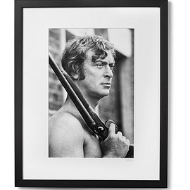 """Sonic Editions - Framed Michael Caine Get Carter Print, 17"""" x 21"""""""