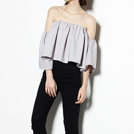 Young Hungry Free - YHF - Chick Be Fluffy Top in Grey