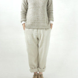 evam eva - crash linen wide pants