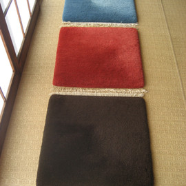MUNI CARPETS - 45×45 CHAIR RUGS サファイアブルー