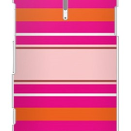 SECOND SKIN - Moisture Stripe ピンク(クリア)design by Moisture/ for Xperia NX SO-02D/docomo