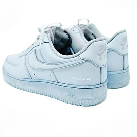 Never Ready, NIKE - Air Force 1 Low - Denim Blue (Custom)
