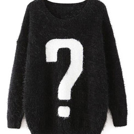 Punctuation Kintted Mohair Black Jumper