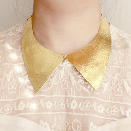 youngfrankk - RESERVED FOR KRISTINE: Collar Hammered Brass Choker