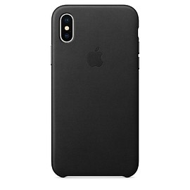Apple - iPhone X Leather Case - Black