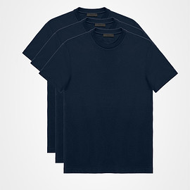 PRADA - THREE PACK CREWNECK T-SHIRTS / NAVY