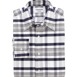 THOM BROWNE - PLAID OXFORD BUTTON DOWN SHIRT