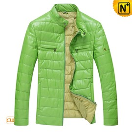 CWMALLS - Genuine Leather Down Jacket for Men CW804055