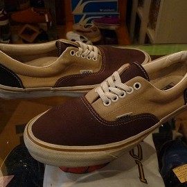 "vans - 「<used>90's vans ERA beige/brown/navy""made in USA"" size:US9(27cm) 14800yen」完売"