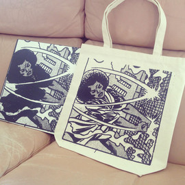Firecracker recordings - 'Miles Away' totebag(LTD 100)