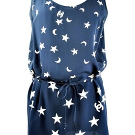 CHANEL - moon and stars logo fabric